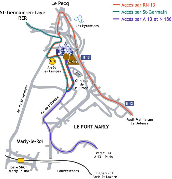 Plan d'accès au Chateau de Monte-Cristo